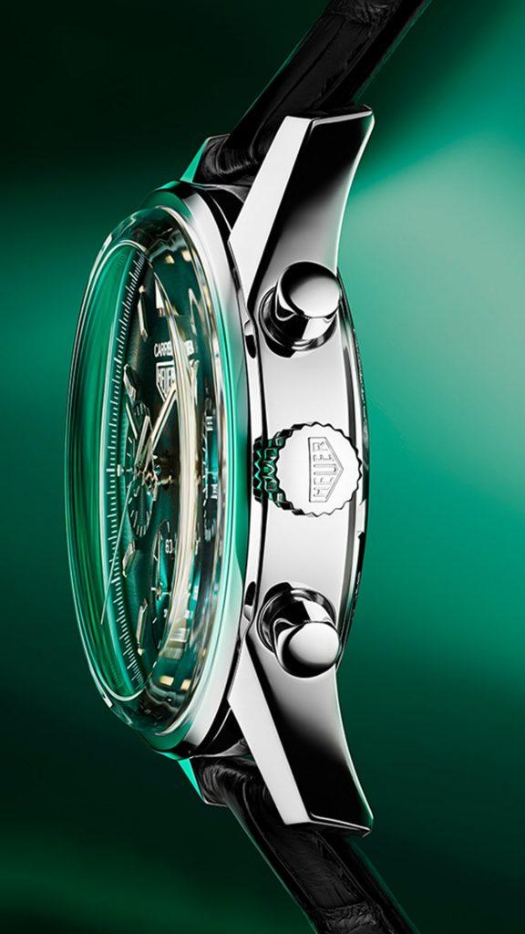 di profilo TAG Heuer green edizione speciale